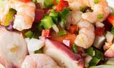 Dúo de salpicón de mariscos a la vinagreta