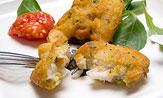 Cocochas de bacalao rebozadas